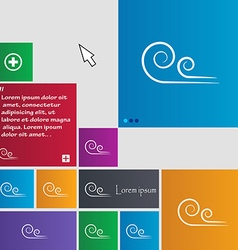 Wind icon sign buttons modern interface website vector