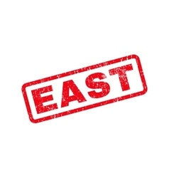 East text rubber stamp vector