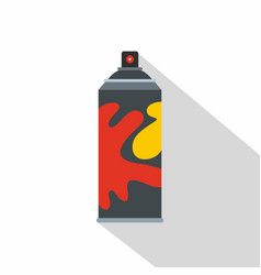 Colored spray icon flat style vector