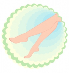 feet beauty vector image