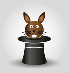 magician trick with rabbit from black hat eps10 vector image