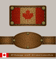 Label of a flag of canada vector