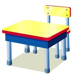 School table vector image