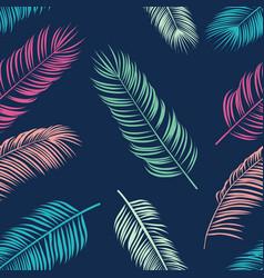 Summer tropical palm seamless pattern vector