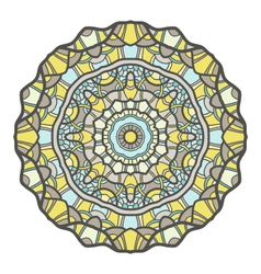 Circular decorative ornament mandala design arabic vector