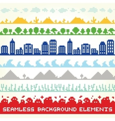 Seamless background location elements vector