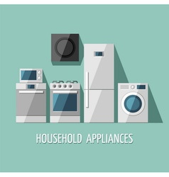 Set of home appliances vector