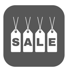 The label with an inscription sale icon discount vector