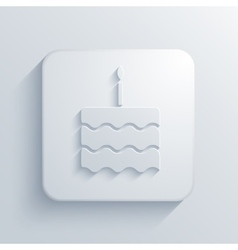 Modern cake light icon vector