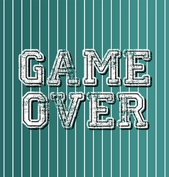 Grungy art greeting game over vector