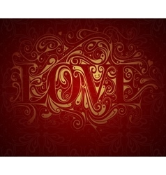 Valentines card design vector