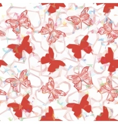 Butterflies low poly pattern vector