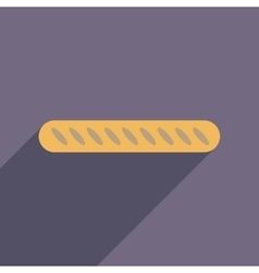 Flat web icon with long shadow baguette vector