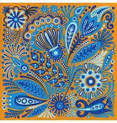 acrylic painting flower ethnic design vector image