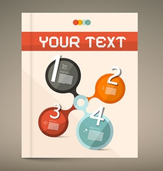 Brochure and book layout cover vector