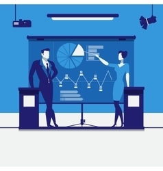 Business presentation concept vector