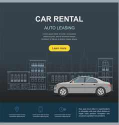Car rental and auto leasing banner vector
