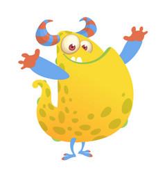 cartoon of an orange fat monster vector image vector image