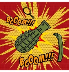 Comic style grenade explosion design element for vector
