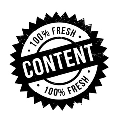 Content stamp rubber grunge vector