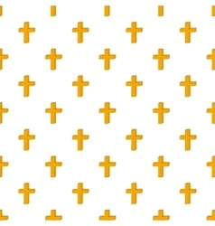 Cross pattern cartoon style vector