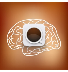 Cup of coffee and heart background vector