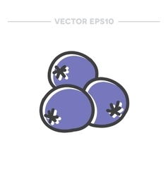 doodle icon blueberry vector image