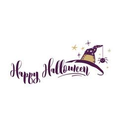Happy halloween hand drawn banner vector