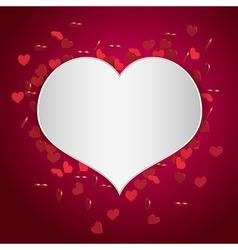 heart valentine background vector image vector image