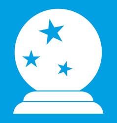 Magic ball icon white vector