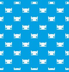 Metalworking machine pattern seamless blue vector