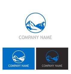 Mountain nature logo vector
