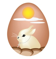 Rabbit Painted on Easter Eggs vector image