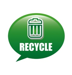 recycle trash vector image