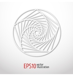 Sacral symbol made of paper 3d spiritual design vector
