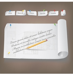 Set of Architectural Web Elements vector image vector image