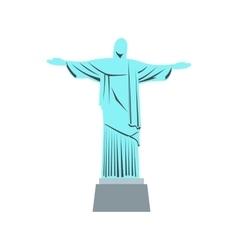 Statue of jesus christ rio de janeiro icon vector