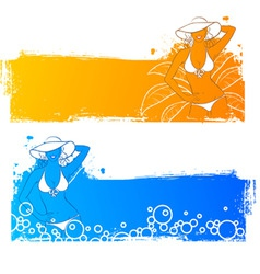 sunny banners vector image