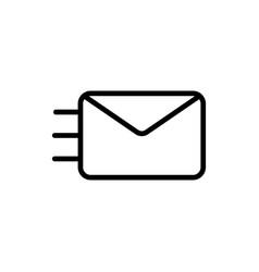 thin line envelope icon vector image vector image