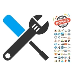 Tools Icon With 2017 Year Bonus Pictograms vector image