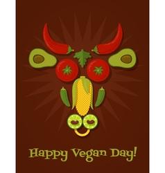 Vegan day vector