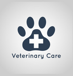 Veterinary care logo vector