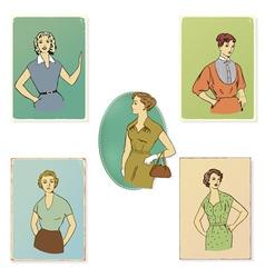 Vintage fashion vector