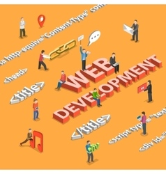 Web development flat isometric concept vector image
