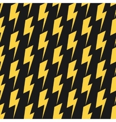 Yellow lightnings black seamless pattern vector image