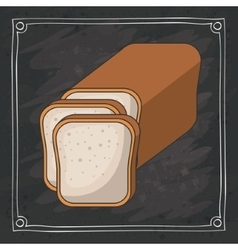 Bread of bakery food design vector