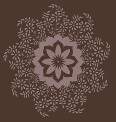 Ornamental round floral pattern with many details vector image