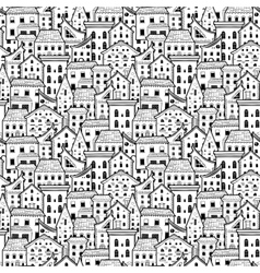 Houses pattern big light vector