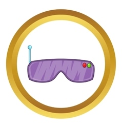 Vr goggles icon vector