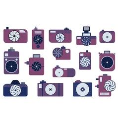 Photo camera icons set vector